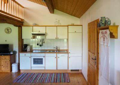 Küchenzeile in der Galeriewohnung