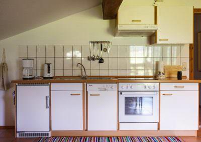 Küchezeile Mansardenwohnung