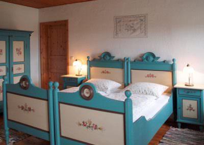Schlafzimmer in der Hofwohnung