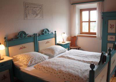 Schlafzimmer eins Hofwohnung