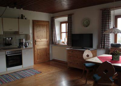 Hofwohnung Tür zu den Schlafzimmern